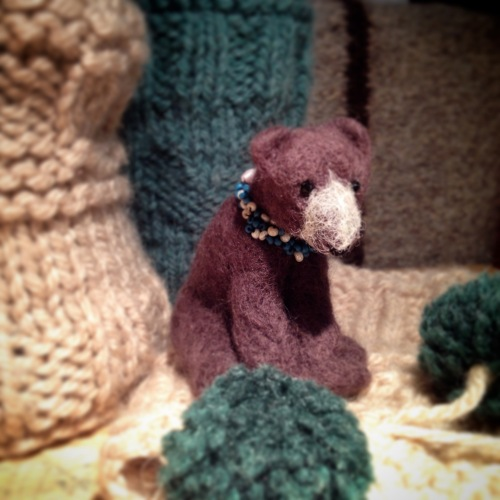 Needlefelted Brown Bear Kim Tillyer