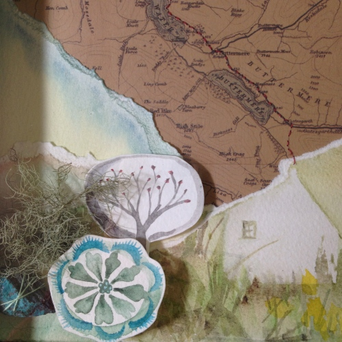 Lake District Map Collage, Kim Tillyer