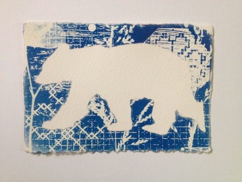 Bear Print Cyanotype