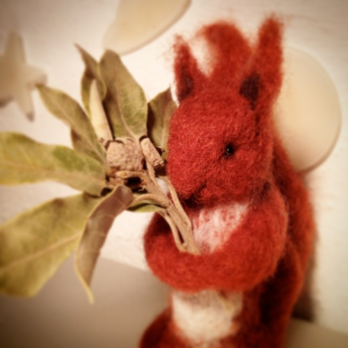 needle felt squirrel