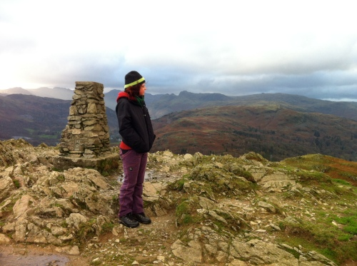 top of Loughrigg in a borrowed hat
