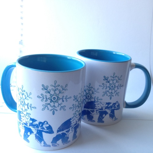 Bear mugs by Kim Tillyer