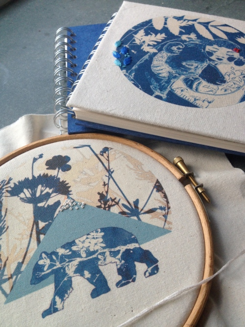 embroidered sketchbooks