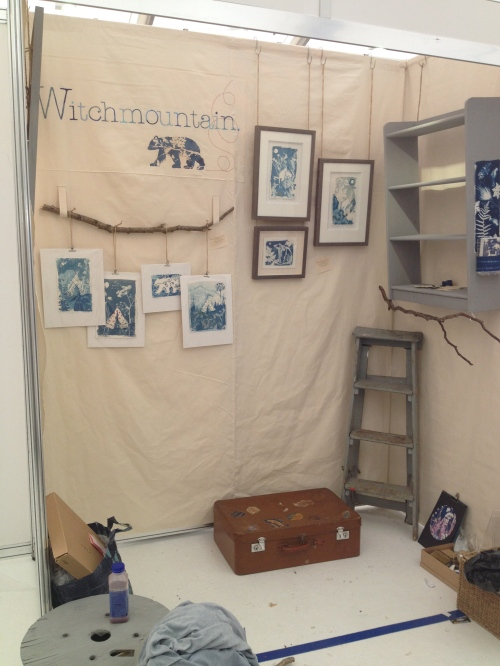 setting up at British Craft Trade Fair