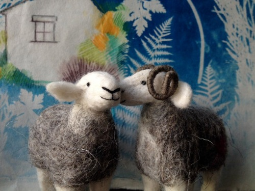Needlefelt sheep by Kim Tillyer