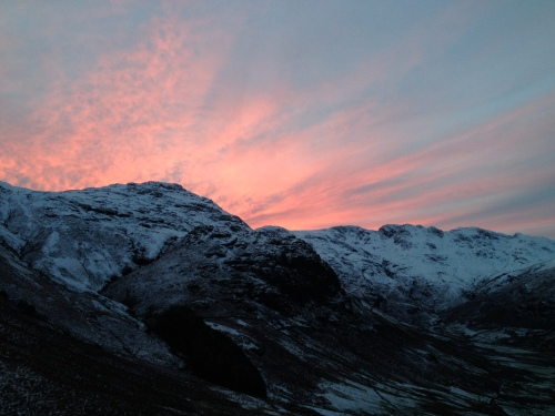 sunset, Langdale